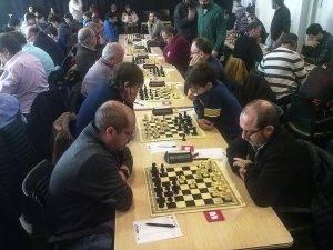 Joan Gallart va tornar a ser el primer escaquer del Santa Eugènia B. (Foto: Óscar Roqueta)