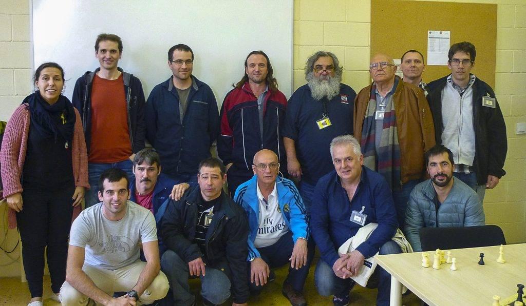 Foto de grup amb el CE Atzucac.
