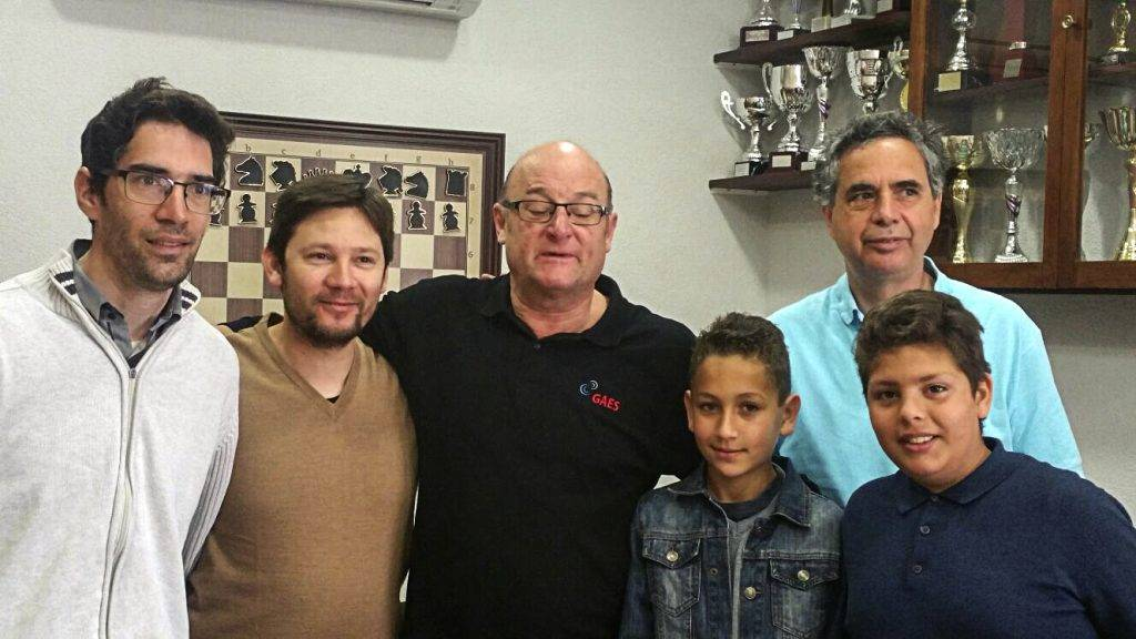 D'esquerra a dreta, David Vela, Oscar Eduardo Roqueta, Jordi Sabrià, Joan Moles, Jose Garcia i Oscar Nahuel Roqueta.