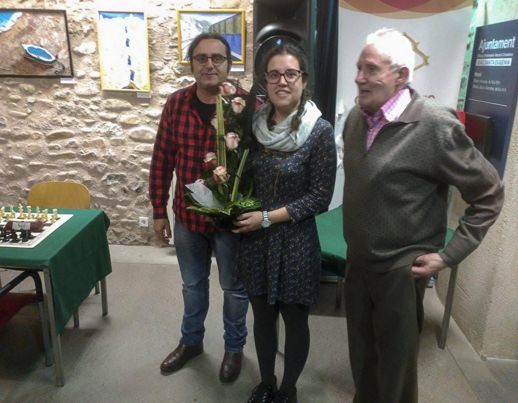 La campiona, Maria Vidal (CE Santa Eugènia)