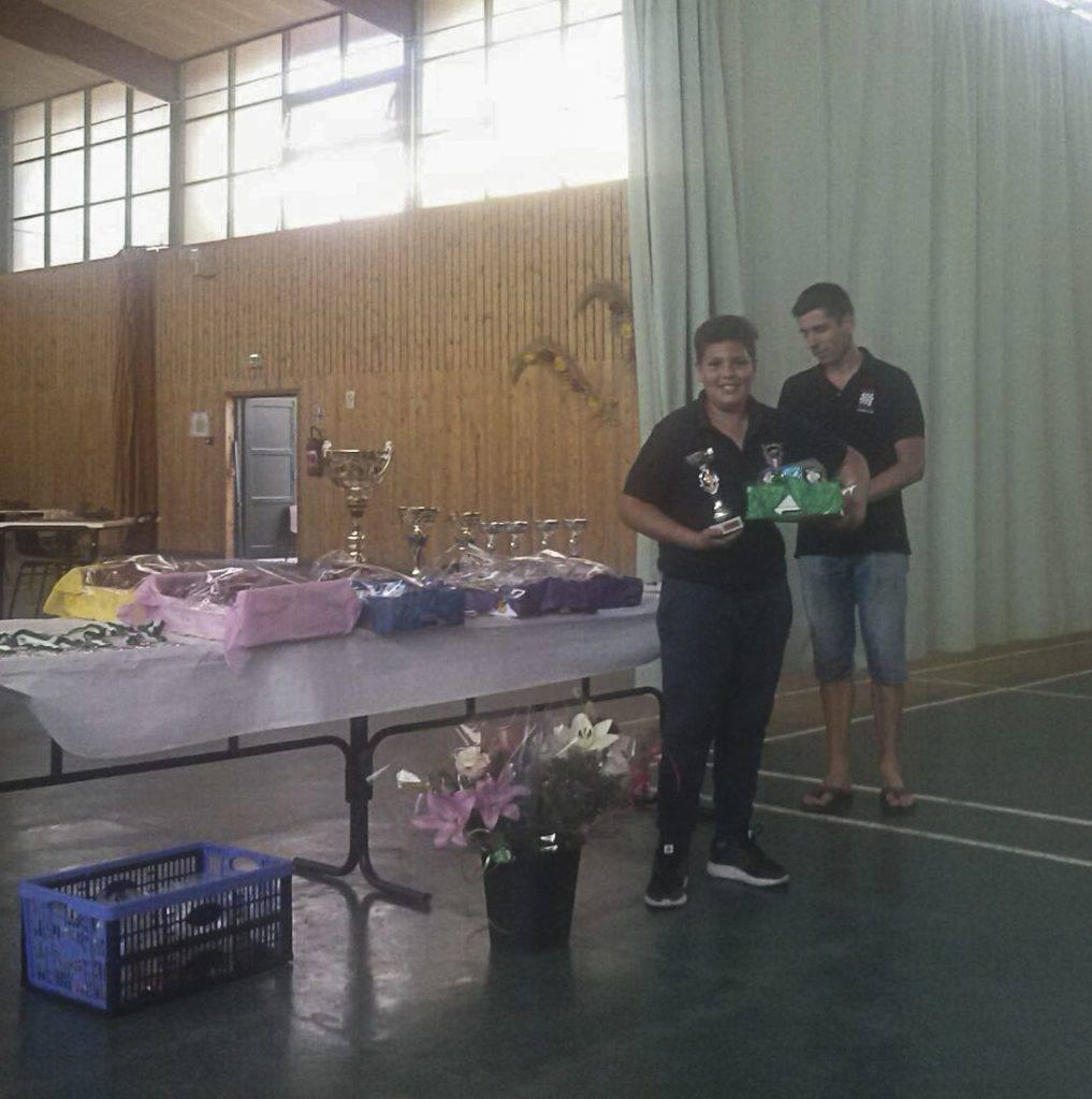 L'Òscar Roqueta recollint el seu premi.