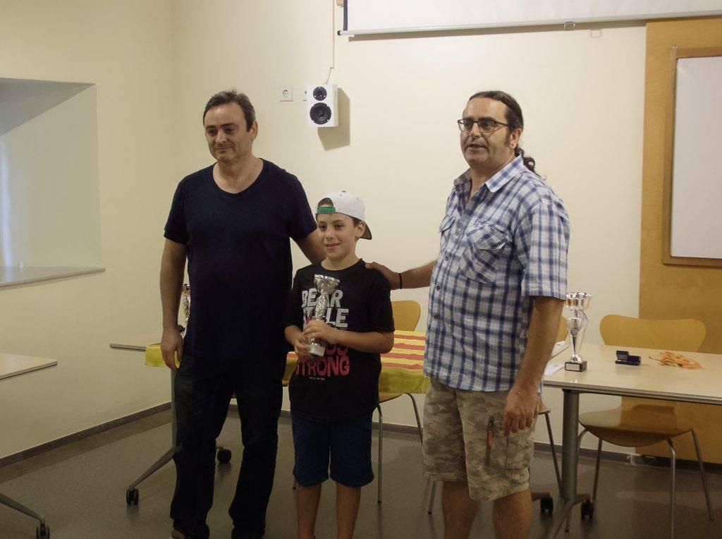 En Josep Maria Jacomet ha participat als campionats de Catalunya i Espanya a la categoria sub-8 assolint resultats molt per sobre del seu nivell teòric. (Foto: J.A.)