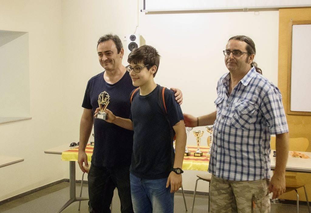 L'Isaac Turon ha defensat aquest any escaquers del primer i del segon equip del club. (Foto: J.A.)