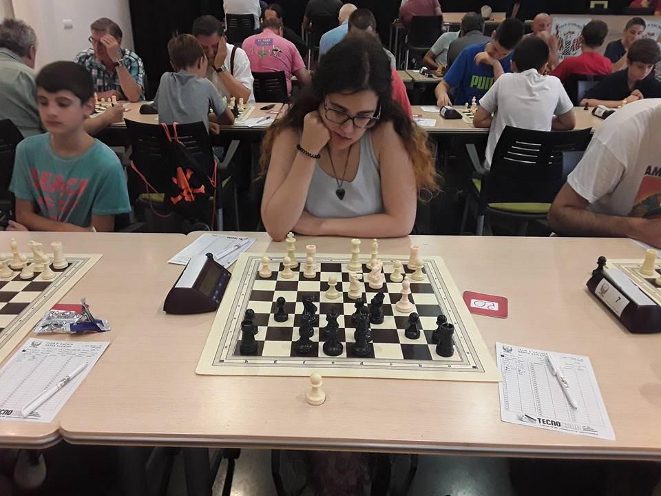 La Maria Vidal (CE Santa Eugènia) campiona femenina de l'Obert. (Foto: Óscar Roqueta)